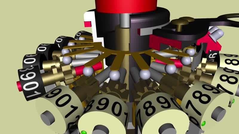 3d модель арифмометра Курта