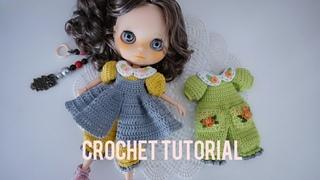 Doll jumpsuite with juper skirt crochet tutorial