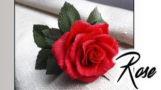 Paper rose  / Роза из гофрированной бумаги