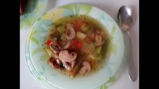 Легкий и полезный супчик с грибами и овощами для диабетика 2 типа