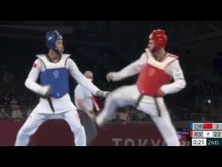 Владислав Ларин - Сунь Хунъи Полуфинал Тхэквандо 80кг Олимпиада Токио 2020 2021