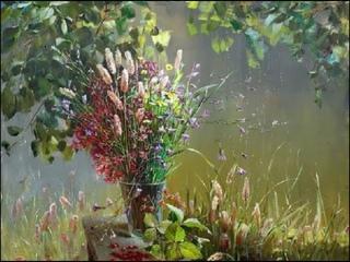 Доброе утро! Цветы  художницы Марины Захаровой