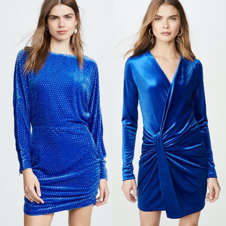 Выбираем синее вечернее платье для новогодних праздников.