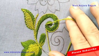 Exclusive Hand Embroidery Flower, Gorgeous Hand Embroidery Art, Floral Design by Anjiara Begum-190