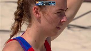 Spain vs Australia   Preliminary Round   2018 IHF Women's Beach Handball World Championship