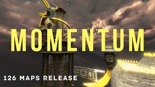 Momentum - Cube 2 Sauerbraten Race movie | Release of pack with 126 race maps