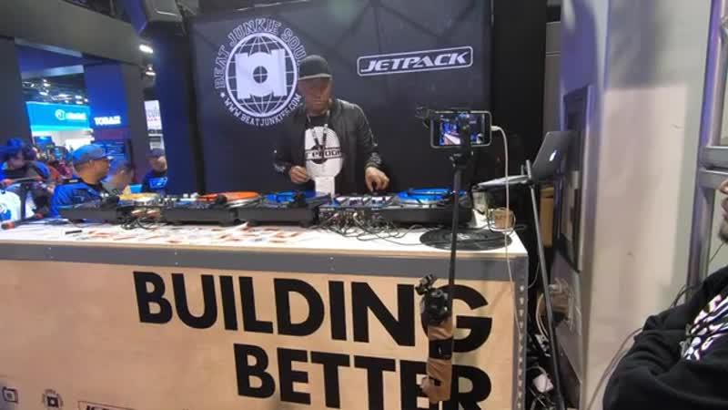 DJ ANGELO @ THE BEAT JUNKIES JETPACK BOOTH NAMM2020