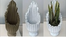 DIY - Cement / Unique and beautiful flower pot made from cement with rags