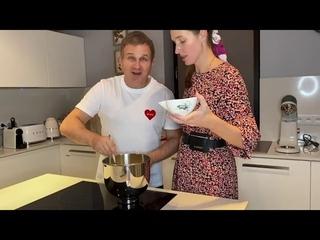 Катя Осадчая и Юрий Горбунов поделились рецептом домашнего рулета с джемом