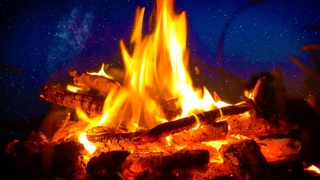 Campfire River Night Ambience 10 Hours Nature White Noise for Sleep, Studying or Relaxation
